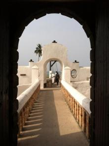 The last view of daylight many slaves saw before they were confined to Elmina.