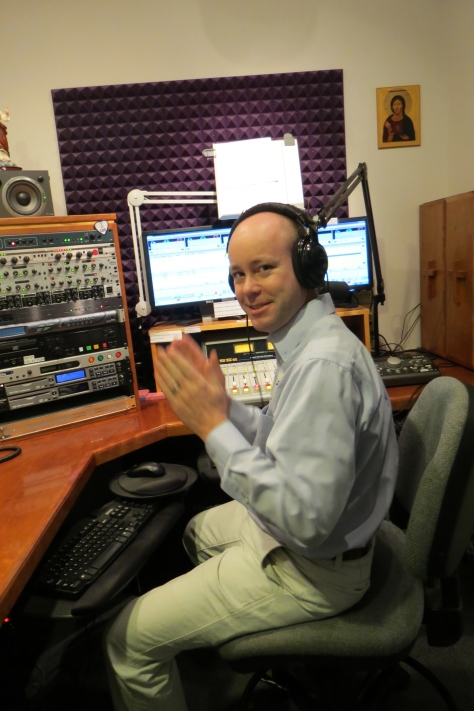 This is the studio Matt now hosts the Son Rise Morning Show from. We all visited last weekend to take some pictures in the beautiful Our Lady of the Holy Spirit Center, where Sacred Heart Radio is located.