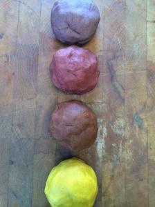 Clove, cinnamon, nutmeg, and ginger play dough